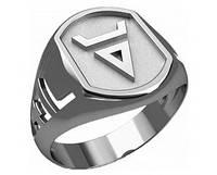 Кольцо серебряное Символ Велеса 30242