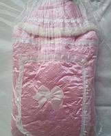 Меховой конверт одеяло Little Angel для новорожденных