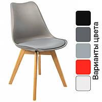 Современный стул из натурального дерева (Бук) Bonro B-487 кресло для кухни с мягким сидением