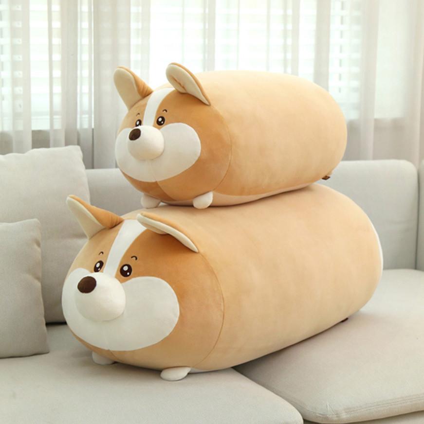 Корги мягкая игрушка плюшевая подушка собака премиум качество 65 см