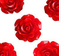 Кабошон 20мм Роза красная, фото 1
