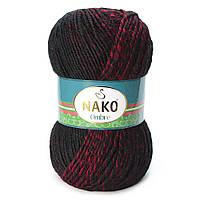 Nako Ombre черный с красным № 20310