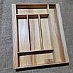 Лоток для столових приладів 320-410.400 ясен, фото 4