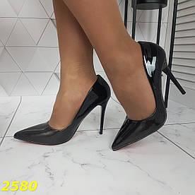 Туфли лодочки черные классика