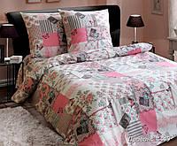 Постельное белье Прованс розовый, белорусская бязь 100%хлопок - полуторный комплект