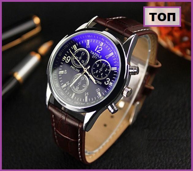 Чоловічі наручні годинники, Годинник yazole, Подарунок чоловікові, Чоловічі класичні годинник, Чоловічі класичні годинник