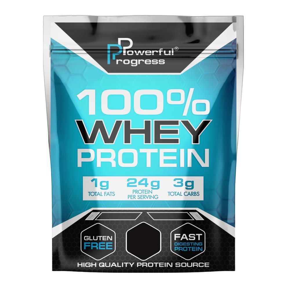 Протеин Powerful Progress 100% Whey Protein, 2 кг Лесной орех ПОВРЕЖДЕННЫЙ