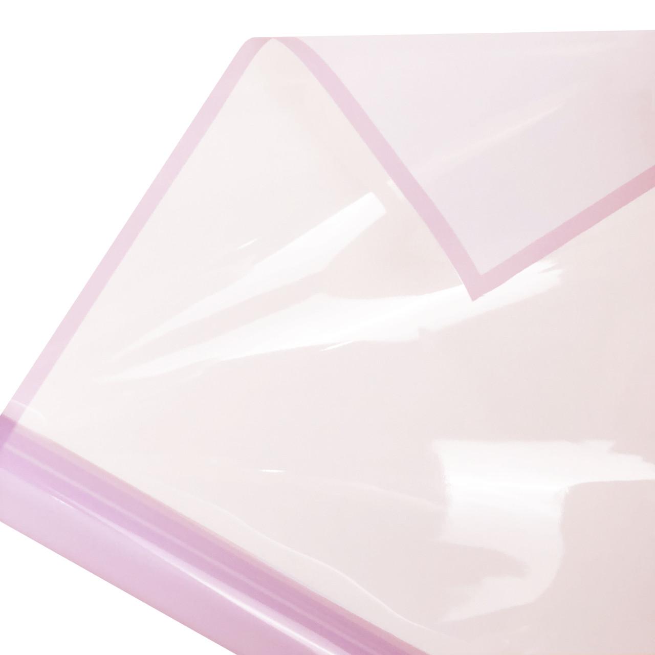 Калька глянцевий кант в рулоні світло-рожева 60*60 см (15 рамок)