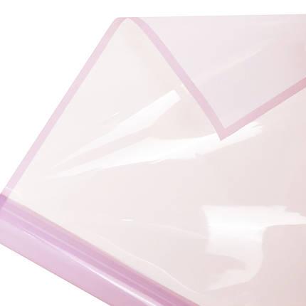 Калька глянцевий кант в рулоні світло-рожева 60*60 см (15 рамок), фото 2