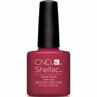 Гель-лак для ногтей Shellac CND Tartan Punk 7,3 мл (темно-красный, эмаль)
