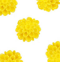 Кабошон 20 мм Хризантема желтая