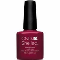 Гель-лак для ногтей Shellac CND Rouge Rite 7,3 мл (насыщенный вишневый оттенок, цвета вина, эмаль)