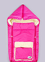 Меховой конверт мешок для новорожденных, фото 1