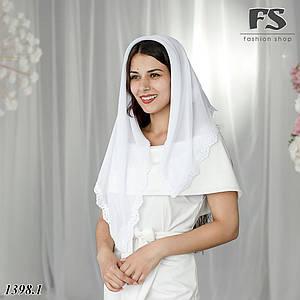 Стильный платок в церьковь, для невесты Мелиса 90см х 90см