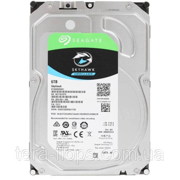 Жёсткий диск HDD Seagate SkyHawk Surveillance 6TB (ST6000VX001) Новый
