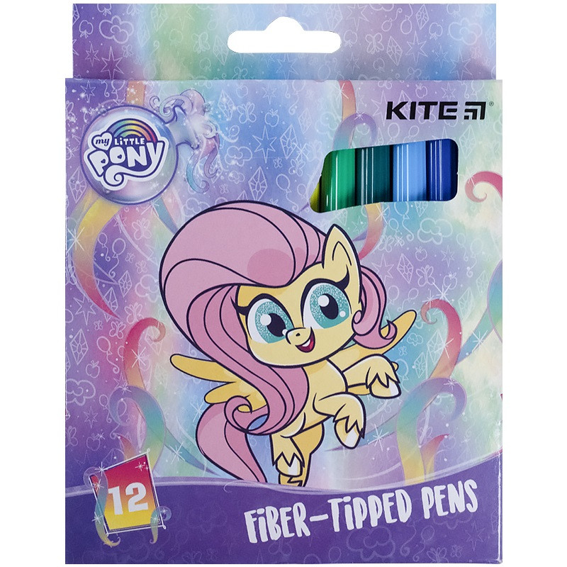 Фломастеры Kite, набор 12 цветов  My Little Pony, LP21-047
