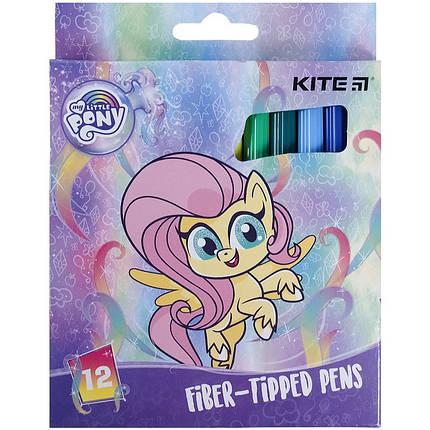 Фломастеры Kite, набор 12 цветов  My Little Pony, LP21-047, фото 2