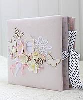 Альбом ручной работы для новорожденной девочки , подарок на годик