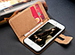 Коричневый чехол на iphone 5/5S из эко-кожи, фото 2