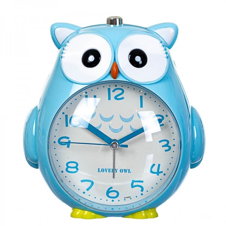 Дитячий будильник Сова (Blue)