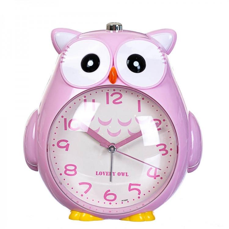 Детский будильник Сова (Pink)