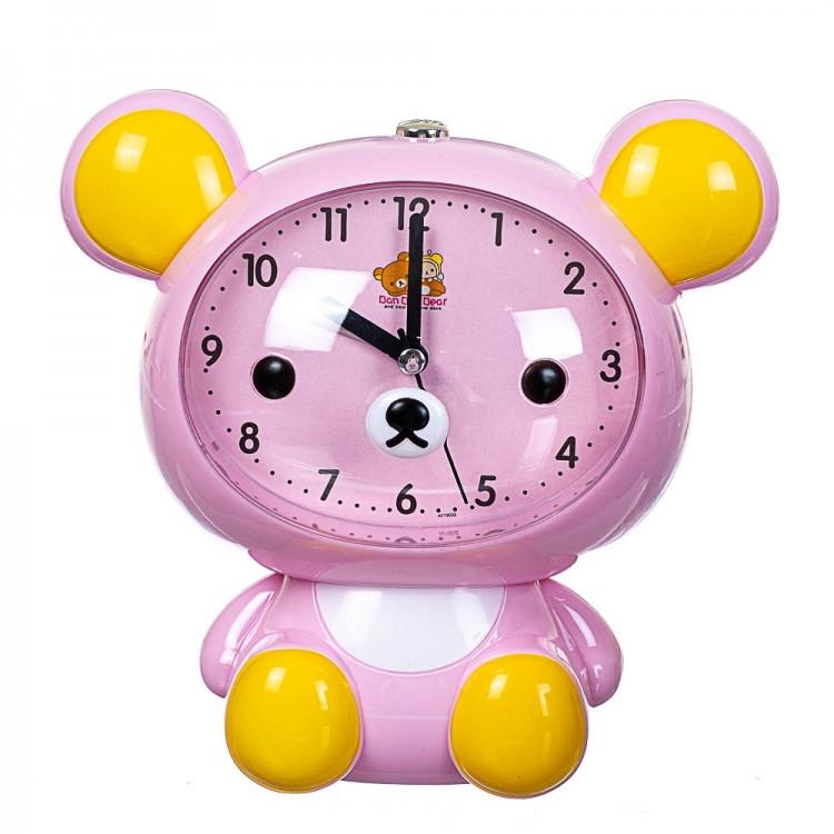 Дитячий будильник Ведмедик (Рожевий)