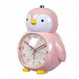 Детский будильник Пингвин (Розовый), фото 2