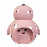 Детский будильник Пингвин (Розовый), фото 3