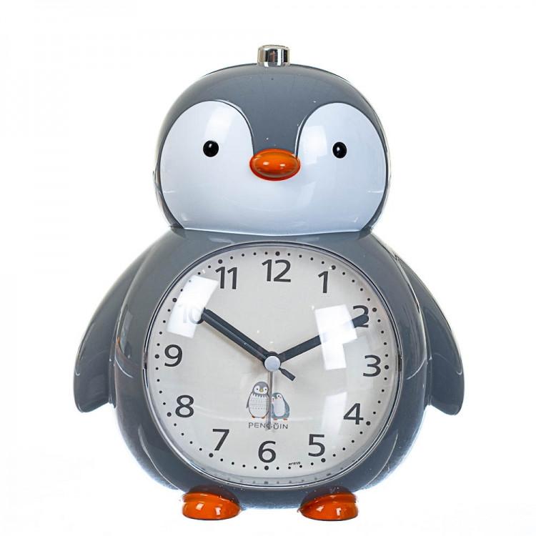 Детский будильник Пингвин (Серый)