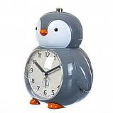 Детский будильник Пингвин (Серый), фото 2