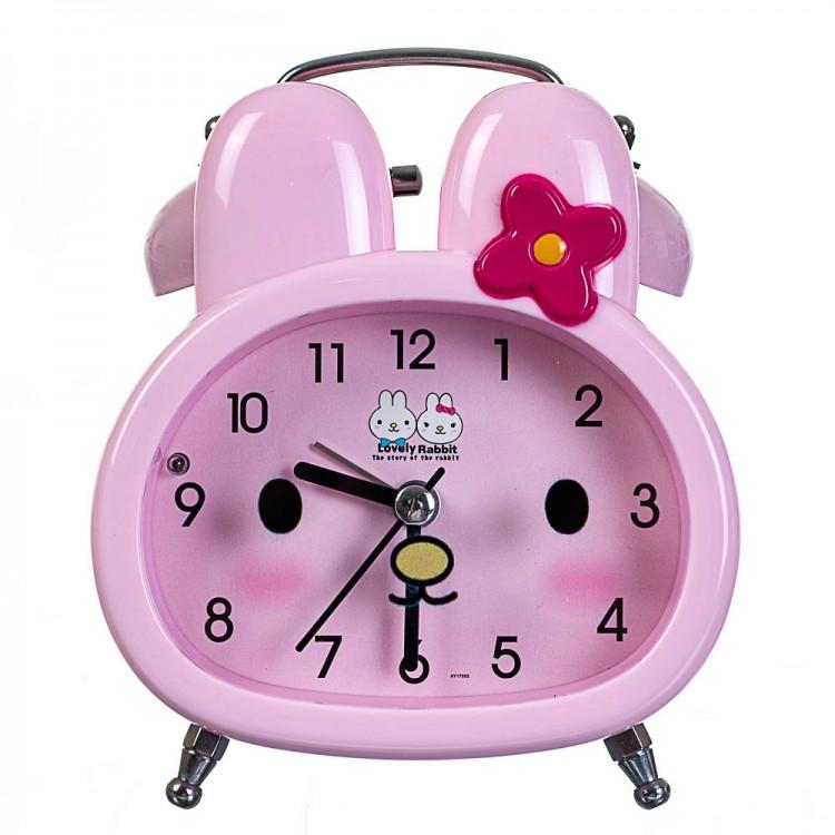 Детский будильник Зайчик (Розовый)