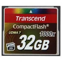 Transcend Compact Flash 32GB (1000X)