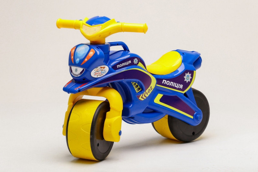 Беговел Active Baby Police музыкальный Сине-желтый
