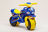 Беговел Active Baby Police музыкальный Сине-желтый, фото 2