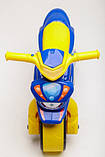 Беговел Active Baby Police музыкальный Сине-желтый, фото 3