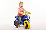 Беговел Active Baby Police музыкальный Сине-желтый, фото 4