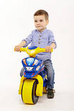 Беговел Active Baby Police музыкальный Сине-желтый, фото 5