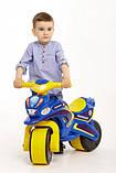 Беговел Active Baby Police музыкальный Сине-желтый, фото 6