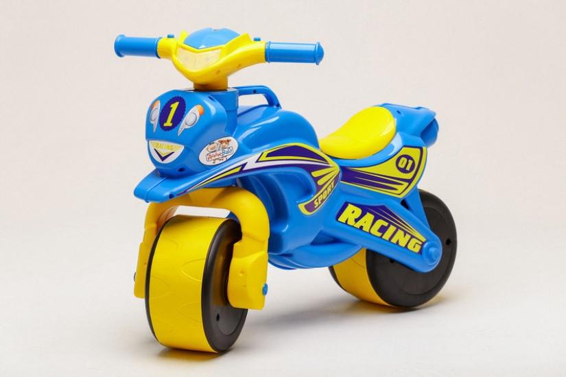 Беговел Active Baby Sport музичний Блакитно-жовтий