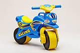 Беговел Active Baby Sport музичний Блакитно-жовтий, фото 2