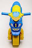 Беговел Active Baby Sport музичний Блакитно-жовтий, фото 3