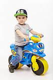 Беговел Active Baby Sport музичний Блакитно-жовтий, фото 4