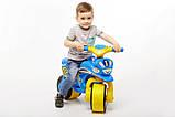 Беговел Active Baby Sport музичний Блакитно-жовтий, фото 5