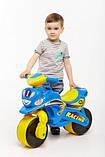 Беговел Active Baby Sport музичний Блакитно-жовтий, фото 6