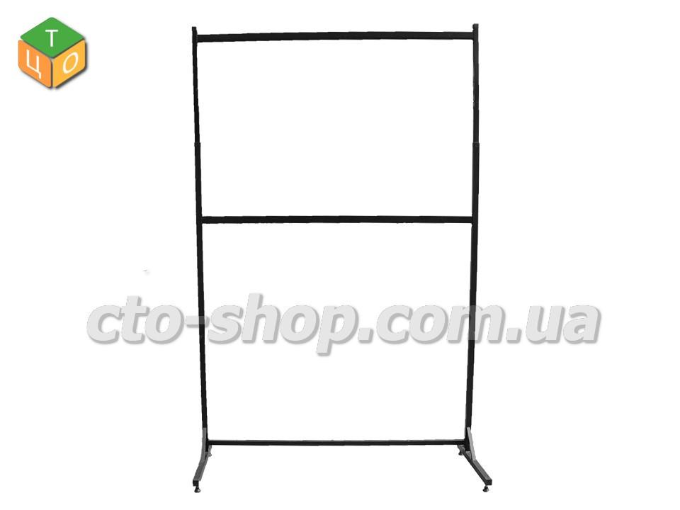 Передвижная стойка для одежды, под кронштейн (2-ух ярусная) 200см