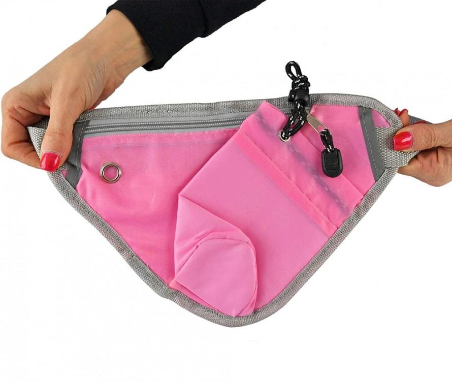 Многофункциональная сумка для бега на талию Sport (розовая)