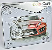 Цветные карандаши Marco 24 цвета ColoCore в металлической коробке 3100-24 TN