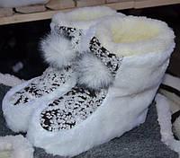 Чуні з овчини сірі  для дітей, фото 1