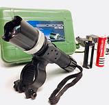 Ліхтарик для велосипеда акумуляторний з кріпленням, фото 2