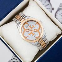 Чоловічі наручні годинники Guess 6990 Silver-Pink Gold